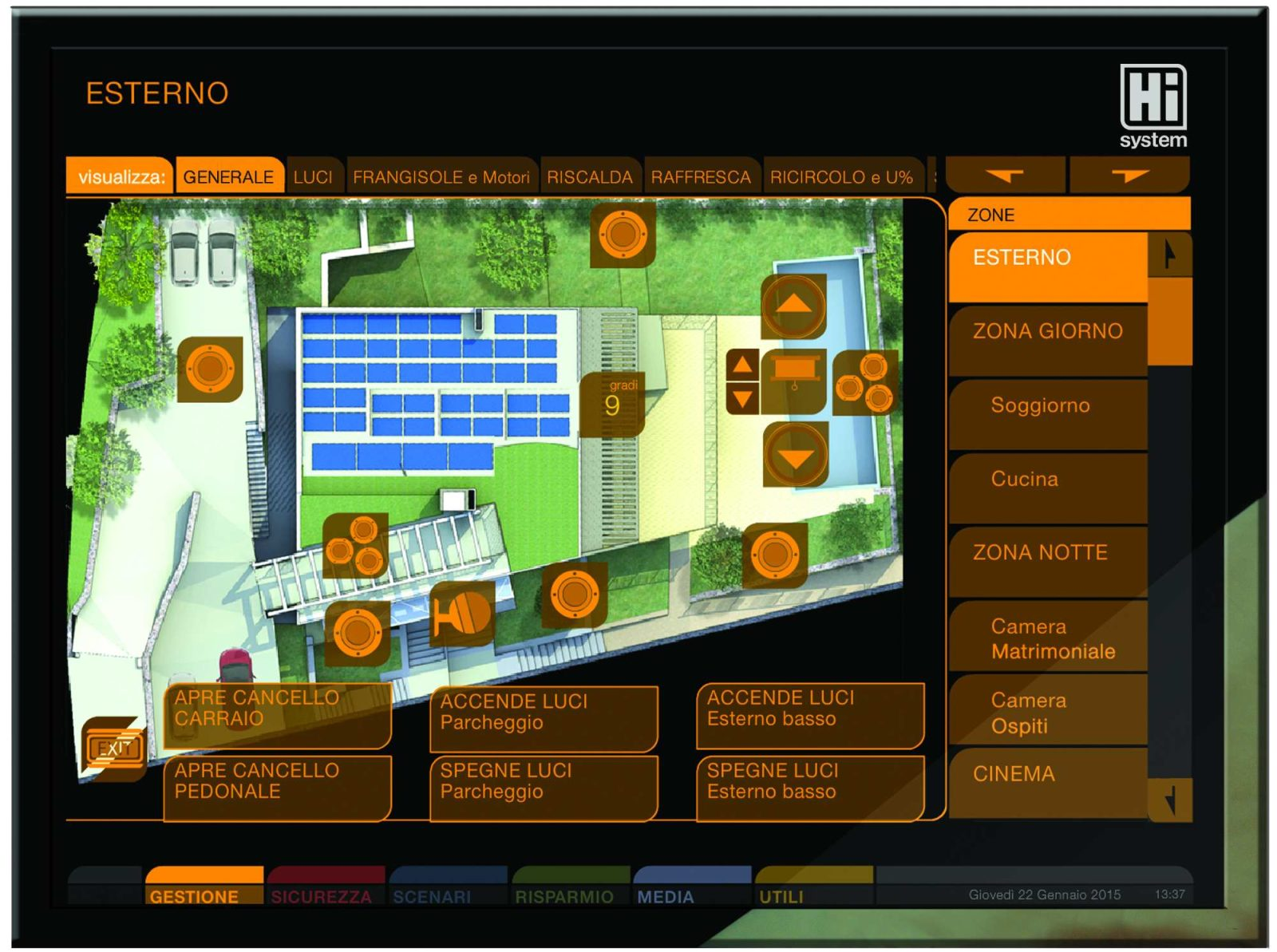 controllo remoto impianto domotico