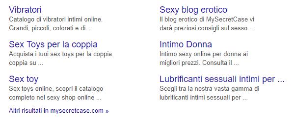 My Secret Case Sitelink Google