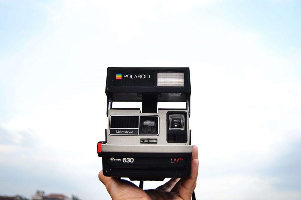 Polaroid macchina fotografica fonte ispirazione Instagram