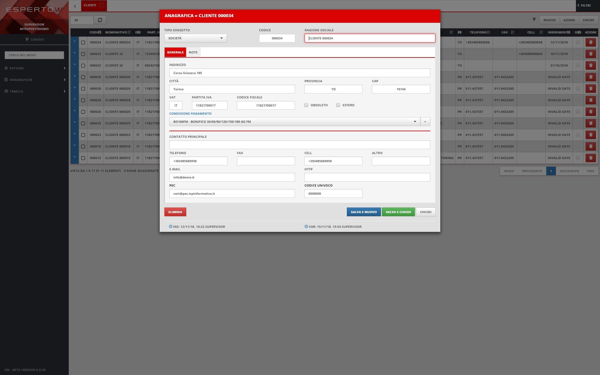2 - Anagrafica Clienti / Fornitori
