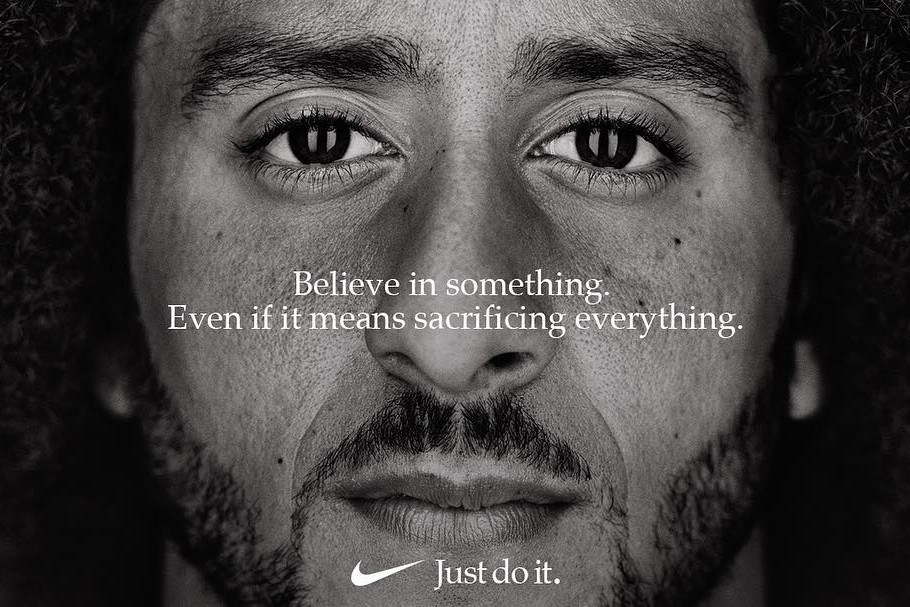 Nike advertising Colin Kaepernick testimonial