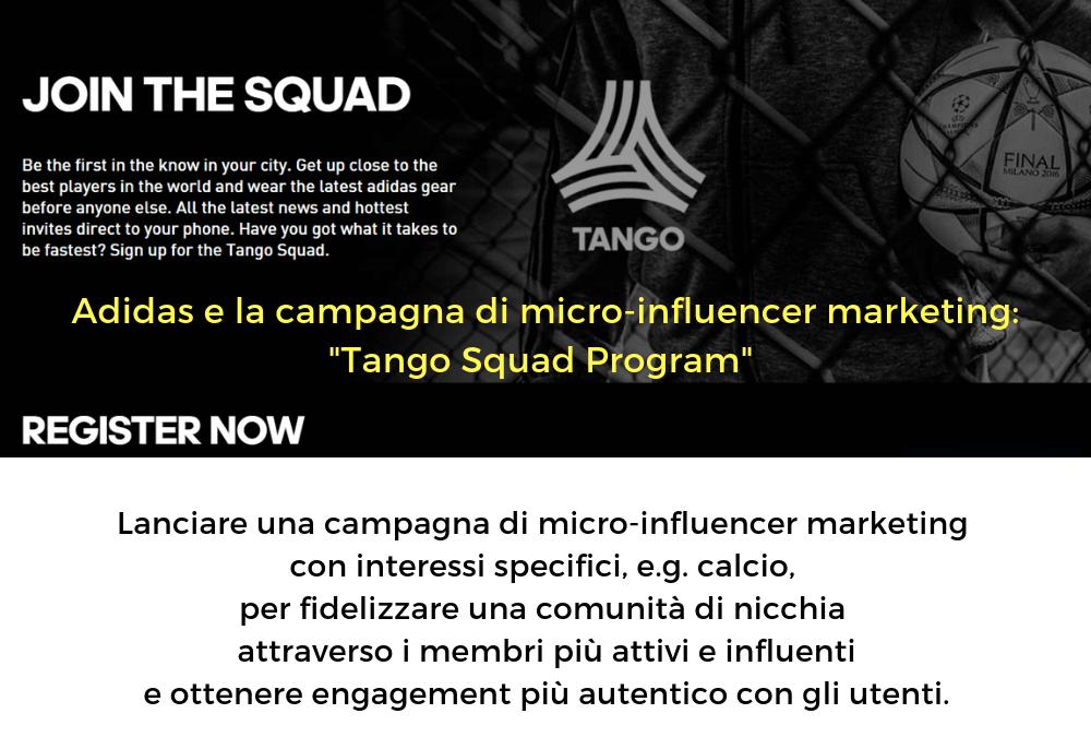 adidas tango squad program