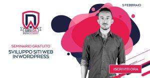 seminario gratuito sviluppo siti web wordpress