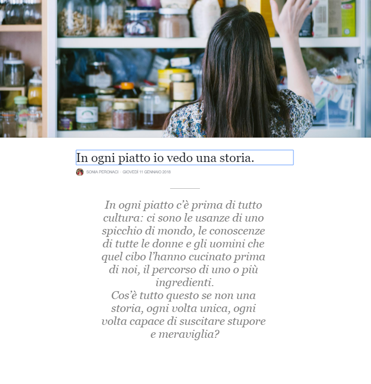 storia su Facebook Sonia Peronaci donna digital marketing